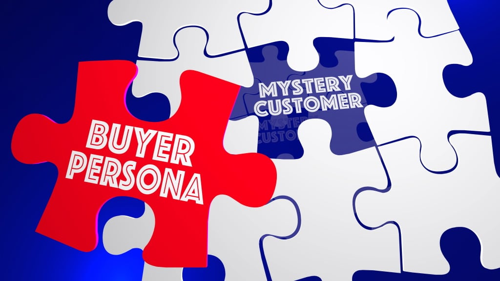graphic showing a jigsaw puzzle with the words buyer persona for a story about how to plan a website
