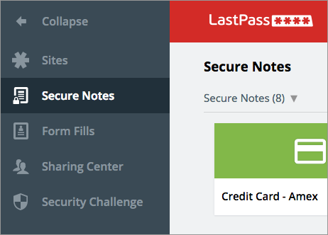 LastPass-Secure Notes