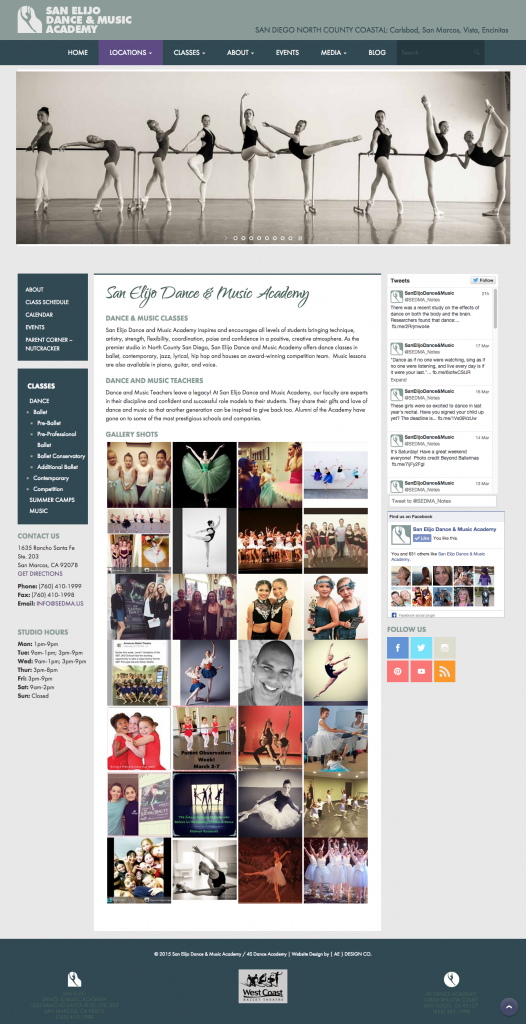 Dance School Website Design