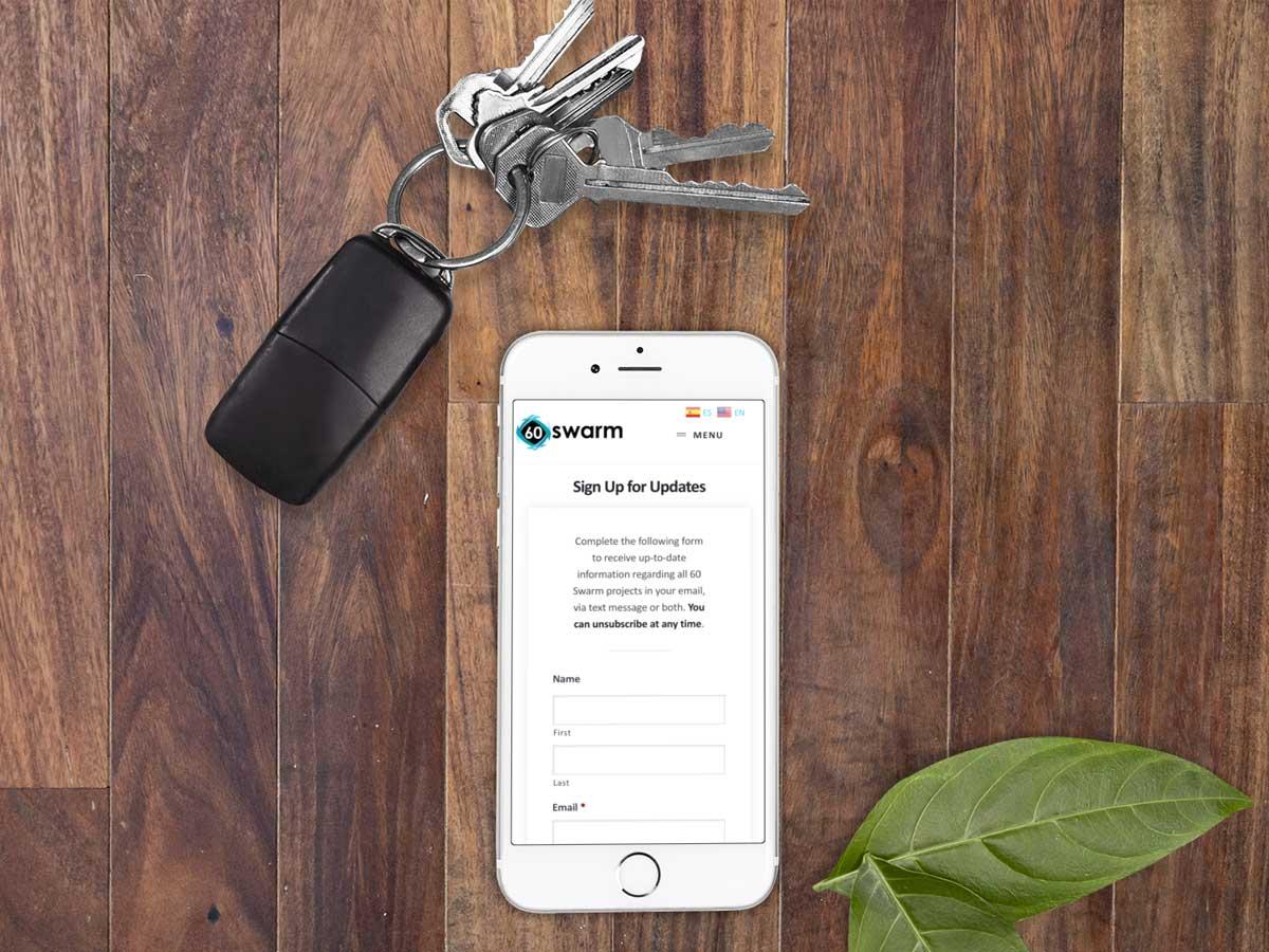 construction mobile website