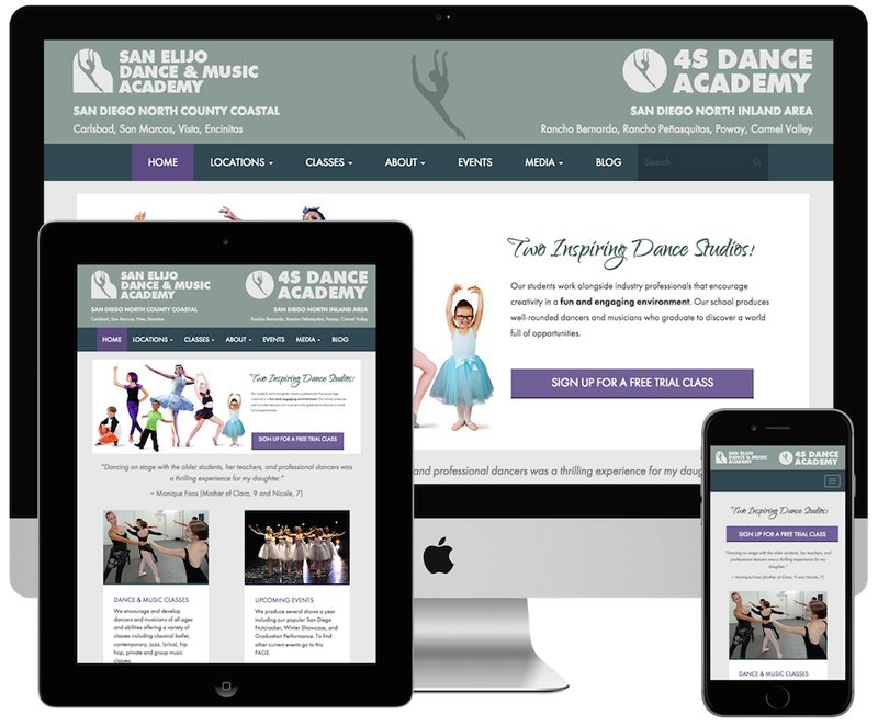 aa12b156221 Dance School Website Design