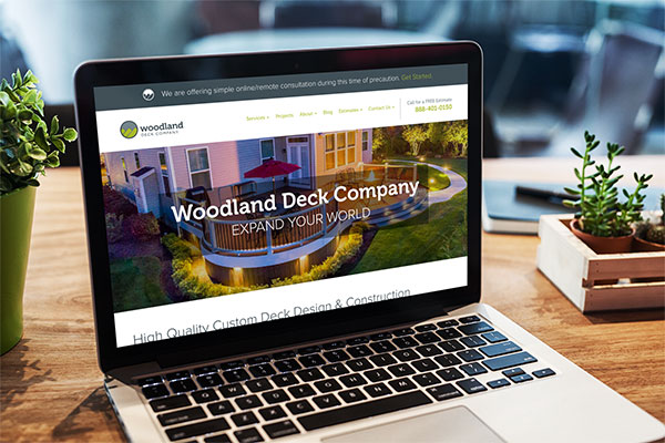 deck builder marketing website