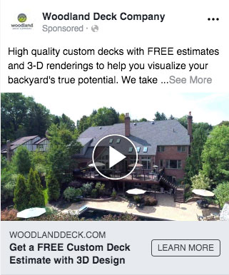 general contractor facebook marketing ad