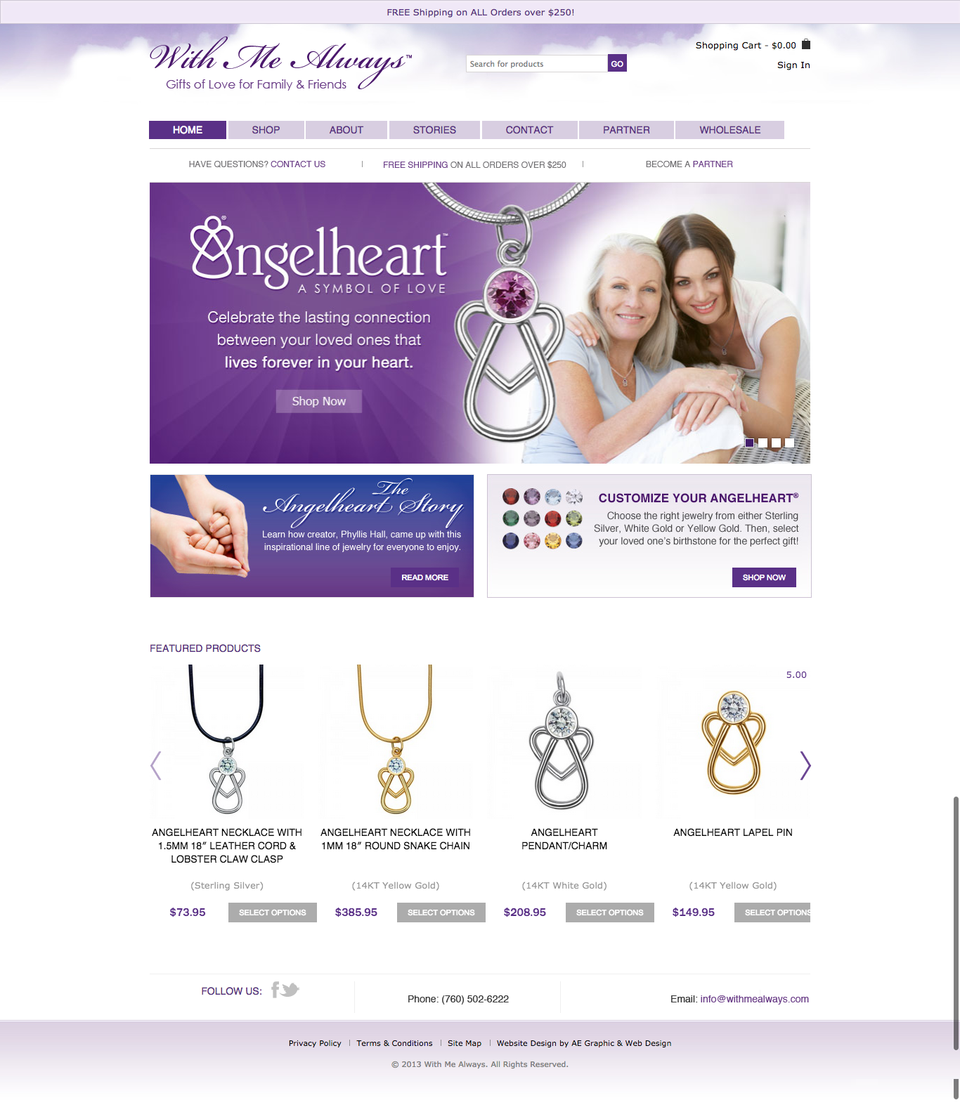 With Me Always Ecommerce Website