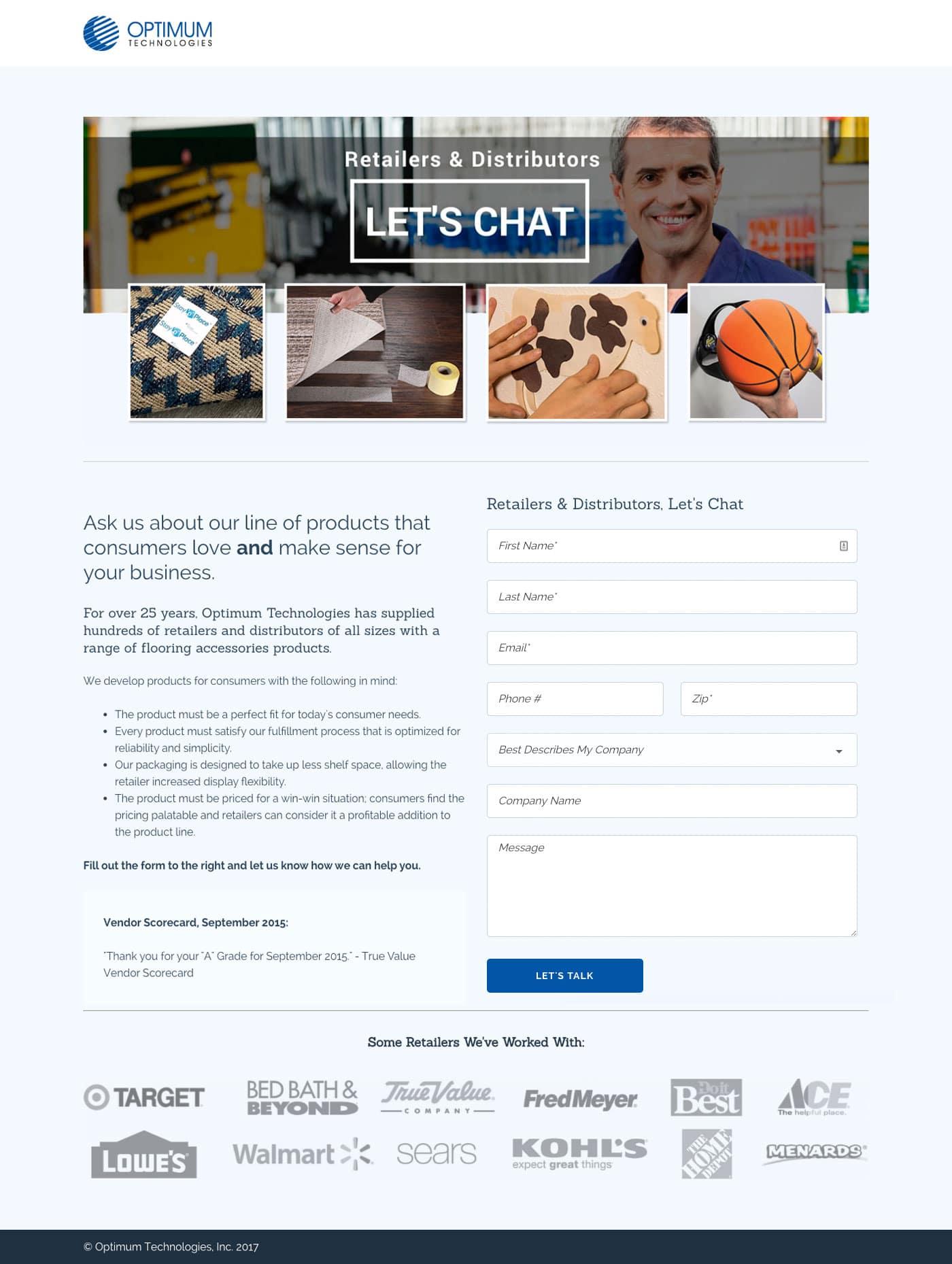 manufacturing-web design landing page design