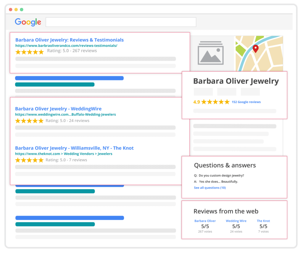 reputation management online reviews search results