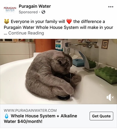 water-facebook-ad
