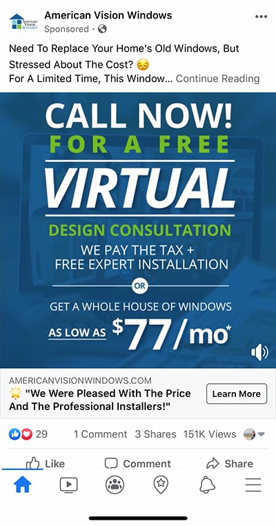 window-company-facebook-ad